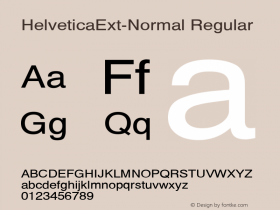 HelveticaExt-Normal Regular Converted from D:\NYFONT\ST000020.TF1 by ALLTYPE Font Sample