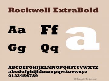 Rockwell ExtraBold Version 1 Font Sample