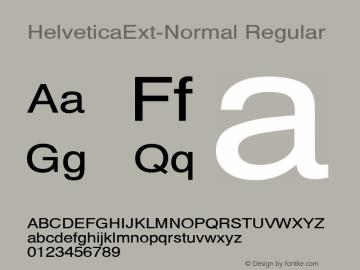 HelveticaExt-Normal Regular Converted from C:\EMSTT\ST000020.TF1 by ALLTYPE Font Sample