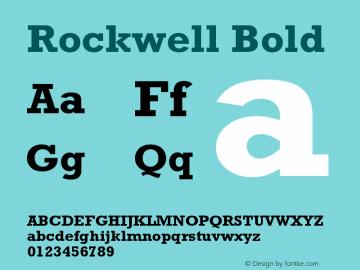 Rockwell Bold Version 001.000 Font Sample