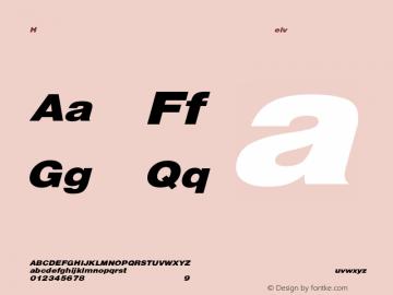 HelveticaExtObl-Heavy Regular Converted from C:\EMSTT\ST000080.TF1 by ALLTYPE Font Sample