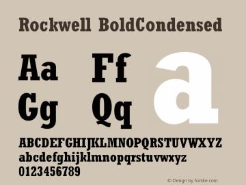 Rockwell BoldCondensed Version 001.000 Font Sample