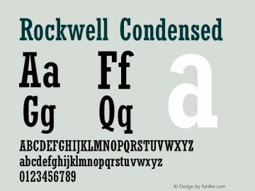 Rockwell Condensed Version 001.000 Font Sample