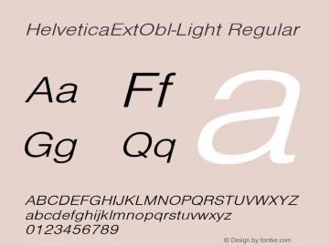 HelveticaExtObl-Light Regular Converted from D:\NYFONT\ST000085.TF1 by ALLTYPE Font Sample