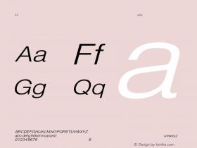 HelveticaExtObl-Light Regular Converted from C:\EMSTT\ST000085.TF1 by ALLTYPE Font Sample