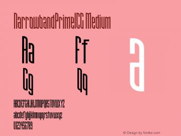 NarrowbandPrimeICG Medium Version 001.000 Font Sample