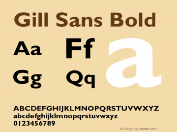 Gill Sans Bold Version 3 Font Sample