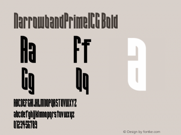 NarrowbandPrimeICG Bold Version 001.000 Font Sample