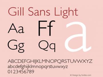 Gill Sans Light Version 001.001 Font Sample
