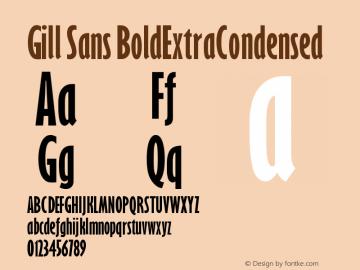 Gill Sans BoldExtraCondensed Version 001.000 Font Sample