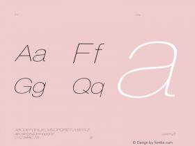 HelveticaExtObl-Thin Regular Converted from C:\EMSTT\ST000093.TF1 by ALLTYPE Font Sample