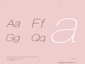 HelveticaExtObl-Thin Regular Converted from C:\EMSTT\ST000093.TF1 by ALLTYPE Font Sample