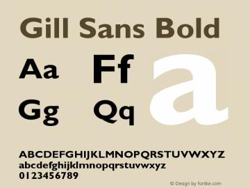 Gill Sans Bold Version 001.002 Font Sample