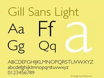 Gill Sans Light Version 001.002 Font Sample