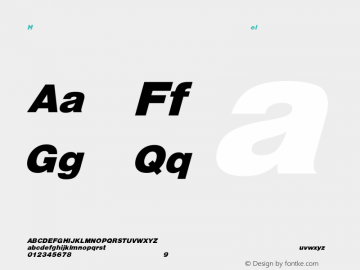HelveticaObl-Heavy Regular Converted from C:\EMSTT\ST000081.TF1 by ALLTYPE Font Sample