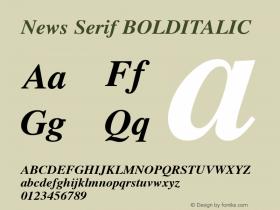 News Serif BOLDITALIC 001.000 Font Sample