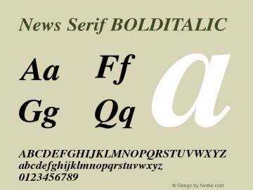 News Serif BOLDITALIC 001.000图片样张