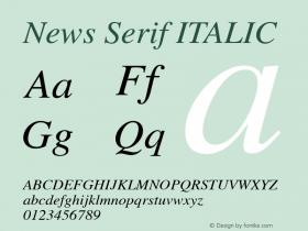 News Serif ITALIC 001.000 Font Sample