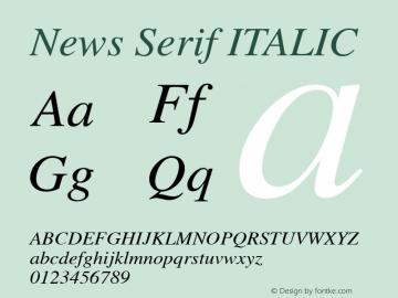 News Serif ITALIC 001.000图片样张