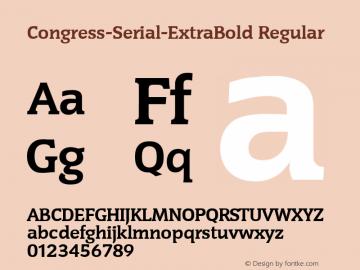 Congress-Serial-ExtraBold Regular 1.0 Fri Oct 18 17:45:04 1996 Font Sample