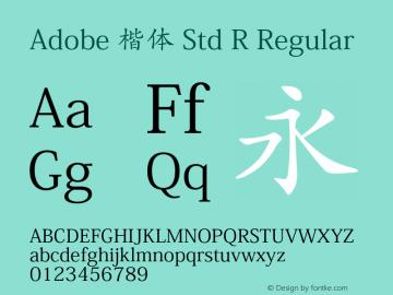 Adobe 楷体 Std R Regular Version 5.010;PS 5.004;hotconv 1.0.57;makeotf.lib2.0.21895图片样张