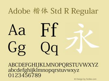Adobe 楷体 Std R Regular Version 5.016;PS 5.004;hotconv 1.0.67;makeotf.lib2.5.33168图片样张