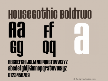 HouseGothic BoldTwo Version 001.000图片样张
