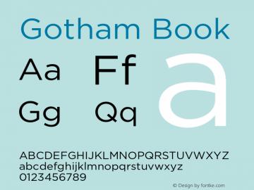Gotham Book 001.000 Font Sample