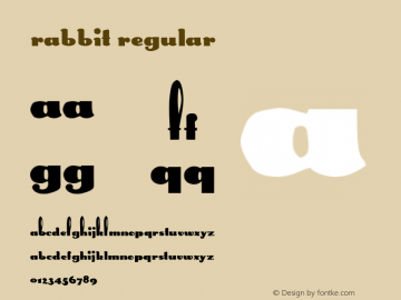 Rabbit Regular Altsys Metamorphosis:5/9/92 Font Sample
