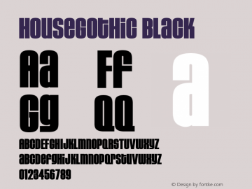 HouseGothic Black Version 001.000图片样张