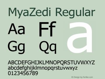 MyaZedi Regular Version 2.001 2005图片样张