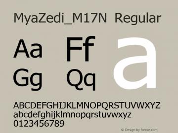 MyaZedi_M17N Regular Version 1.2; 2004 July Font Sample