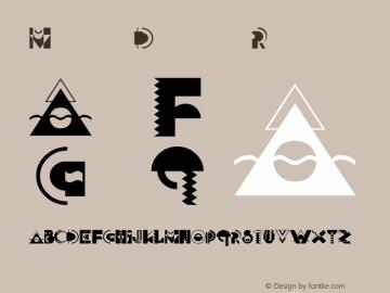 MemphisDisplay Regular Unknown Font Sample