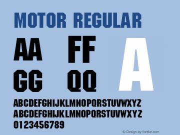 Motor Regular v1.0c Font Sample