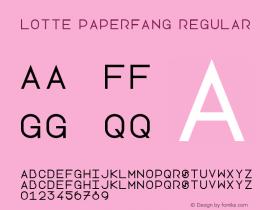 Lotte Paperfang Regular Version 1.0图片样张