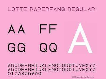 Lotte Paperfang Regular Version 1.0 Font Sample