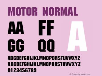 Motor Normal 1.0 Wed Nov 18 10:52:11 1992 Font Sample