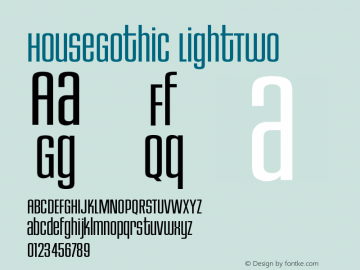 HouseGothic LightTwo Version 001.000图片样张