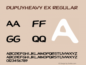 DupuyHeavy Ex Regular Unknown Font Sample