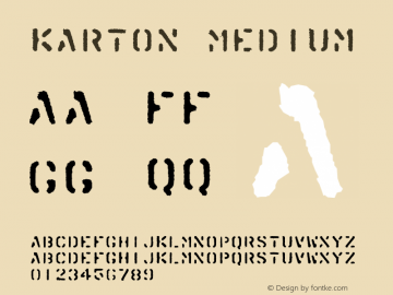 Karton Medium Version 001.000 Font Sample