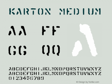 Karton Medium 001.000 Font Sample