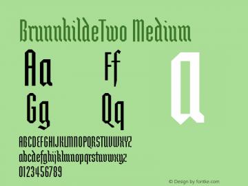 BrunnhildeTwo Medium Version 001.000 Font Sample