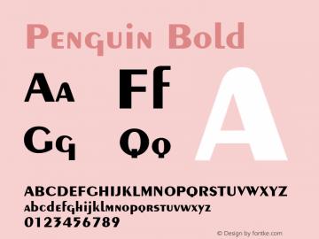Penguin Bold v1.0c Font Sample
