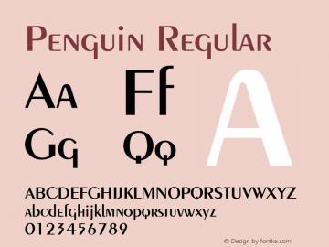 Penguin Regular v1.0c Font Sample