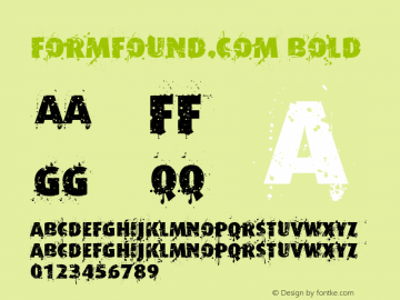 Formfound.com Bold Version 1.000;PS 001.000;hotconv 1.0.38 Font Sample
