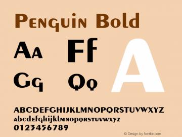 Penguin Bold 1.0 Wed Nov 18 11:43:23 1992 Font Sample