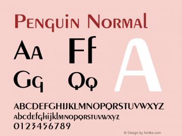 Penguin Normal 1.0 Wed Nov 18 11:44:42 1992 Font Sample