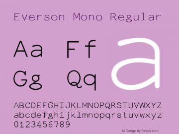 Everson Mono Regular Version 7.001b Font Sample