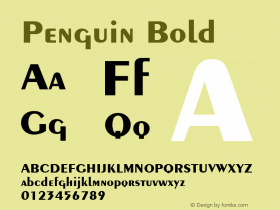 Penguin Bold 001.003 Font Sample