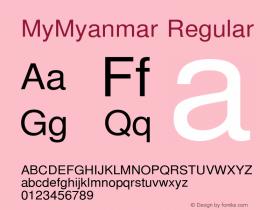 MyMyanmar Regular Version 9.005图片样张